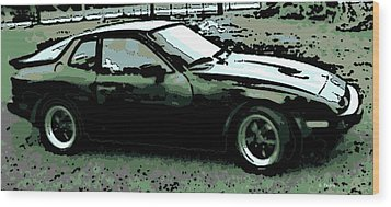 Porsche 944 On A Hot Afternoon Wood Print by George Pedro