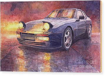 Porsche 944 Turbo Wood Print by Yuriy  Shevchuk