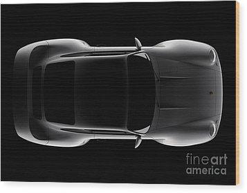 Porsche 959 - Top View Wood Print