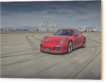 Porsche 991 Gt3 Wood Print