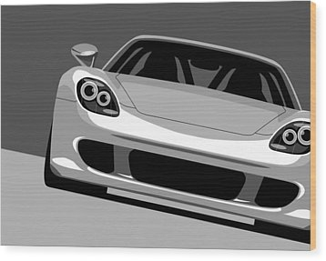 Porsche Carrera Gt Wood Print by Michael Tompsett