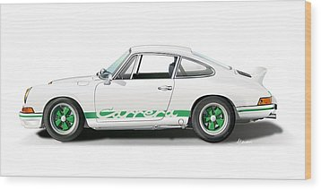 Porsche Carrera Rs Illustration Wood Print