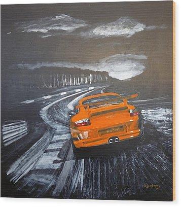 Porsche Gt3 @ Le Mans #3 Wood Print