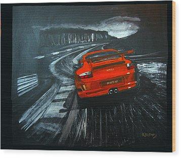 Porsche Gt3 Le Mans Wood Print