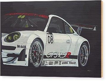 Porsche Gt3 Rsr Wood Print