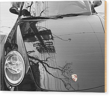 Porsche Reflections Wood Print