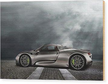 Porsche Spyder V2 Wood Print by Peter Chilelli