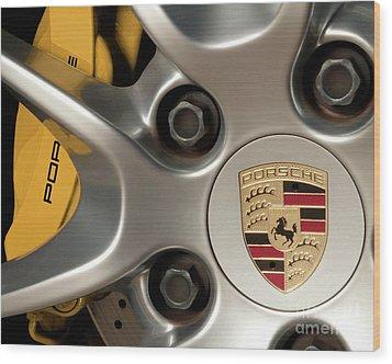 Porsche Wheel Detail #2 Wood Print