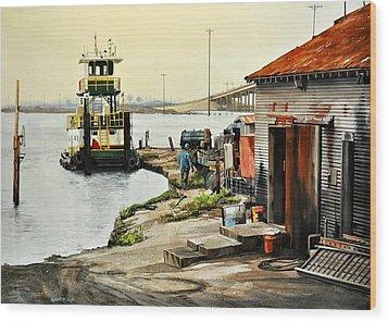 Port Aransas Ways Wood Print