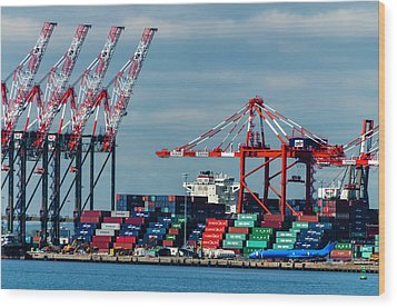 Port Newark Container Terminal Wood Print