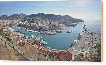Port Nice Panorama Wood Print by Yhun Suarez