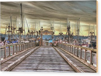 Port Of Newport - Dock 5 Wood Print