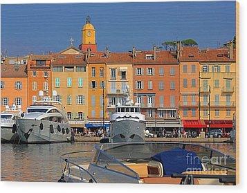 Port Of Saint-tropez In France Wood Print by Giancarlo Liguori