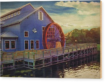 Port Orleans Riverside Wood Print by Lourry Legarde