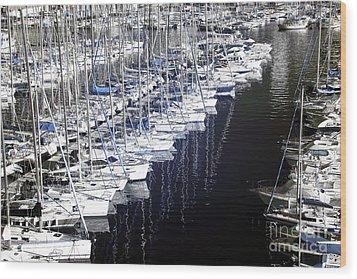 Port Parking Wood Print by John Rizzuto