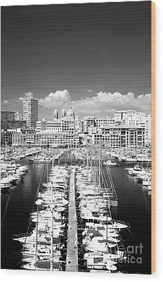 Port Parking Only Wood Print by John Rizzuto
