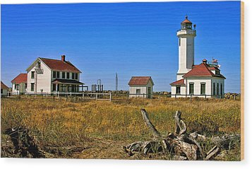 Wood Print featuring the painting Port Townsend by Larry Darnell