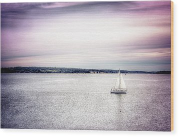 Wood Print featuring the photograph Port Townsend Sailboat by Spencer McDonald