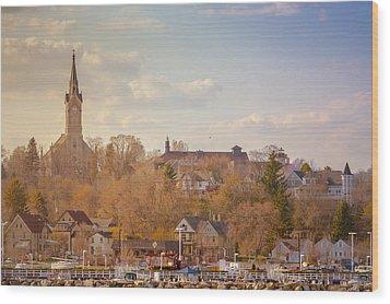 Port Washington Skyline Wood Print