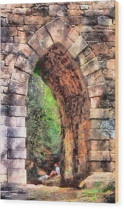 Portal Into Summertime Wood Print