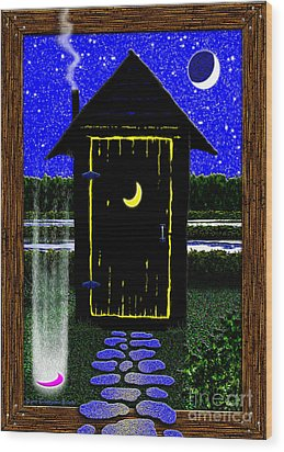 Portal Potty Wood Print