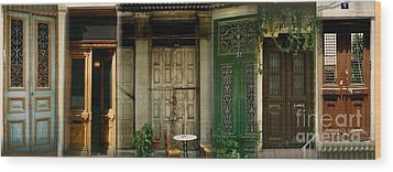 Wood Print featuring the photograph Portals From The Plaka by Robert D McBain