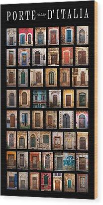 Porte D'italia Wood Print