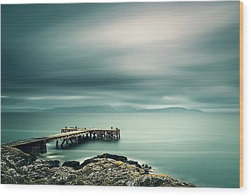 Portencross Pier Wood Print