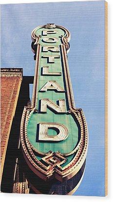 Portland Wood Print by Cathie Tyler