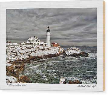 Wood Print featuring the photograph Portland Head Light by Richard Bean