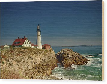 Portland Head Lighthouse 2 Wood Print