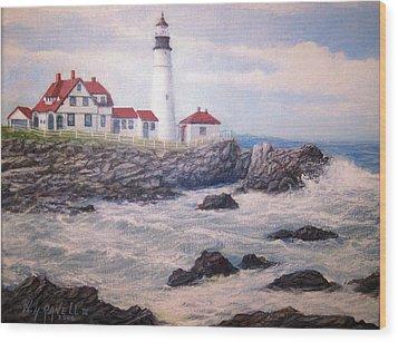 Portland Head Lighthouse Wood Print by William H RaVell III
