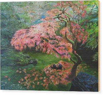 Portland Japanese Maple Wood Print