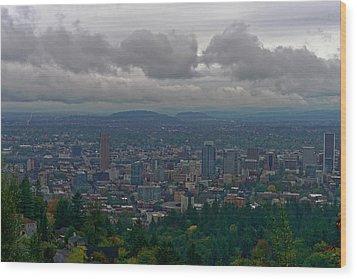 Wood Print featuring the photograph Portland Overlook by Jonathan Davison