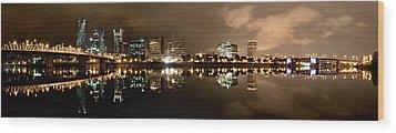Portland Panorama Wood Print by Brian Bonham