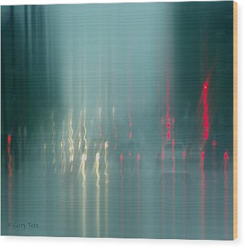 Portland Rains Wood Print