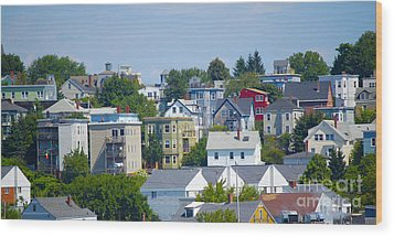 Portland Rooftops Wood Print by Faith Harron Boudreau