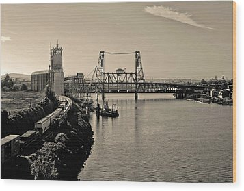 Portland Steel Bridge Wood Print
