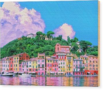 Portofino Wood Print by Dominic Piperata