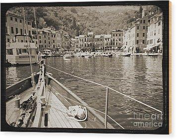 Portofino Italy From Solway Maid Wood Print by Dustin K Ryan