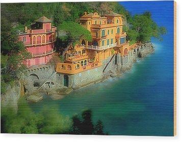 Portofino Park Bay Wood Print