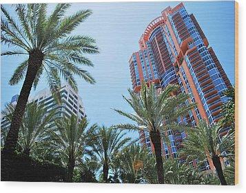 Portofino Towers South Beach Miami Wood Print by Amanda Vouglas