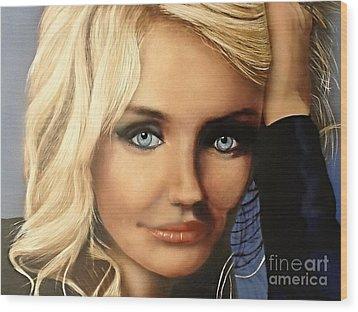 Cameron Diaz Portrait  Wood Print