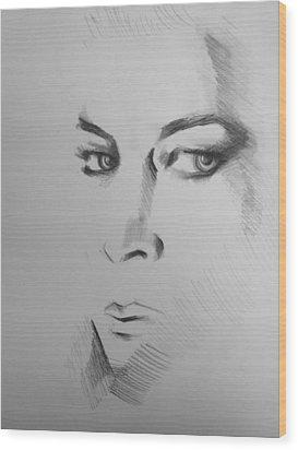Portrait Wood Print by Candice DeKay