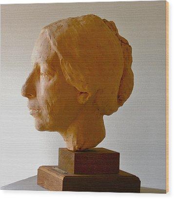Portrait Wood Print by Deborah Dendler