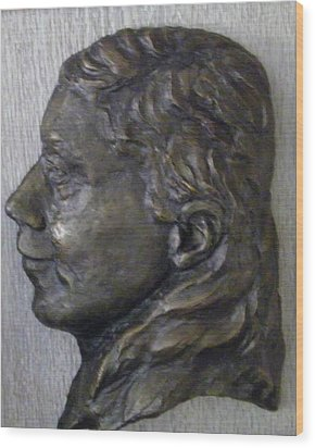 Portrait In Bronze Wood Print by Willoughby Senior