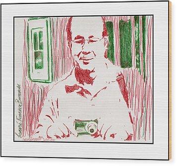 Portrait  Lauri  Wood Print by Gerusa Bernardes