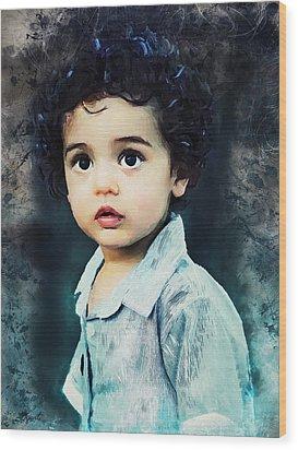 Portrait Of A Child Wood Print