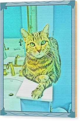 Portrait Of A Feline Wood Print