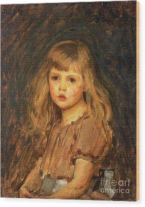 Portrait Of A Girl Wood Print by John William Waterhouse